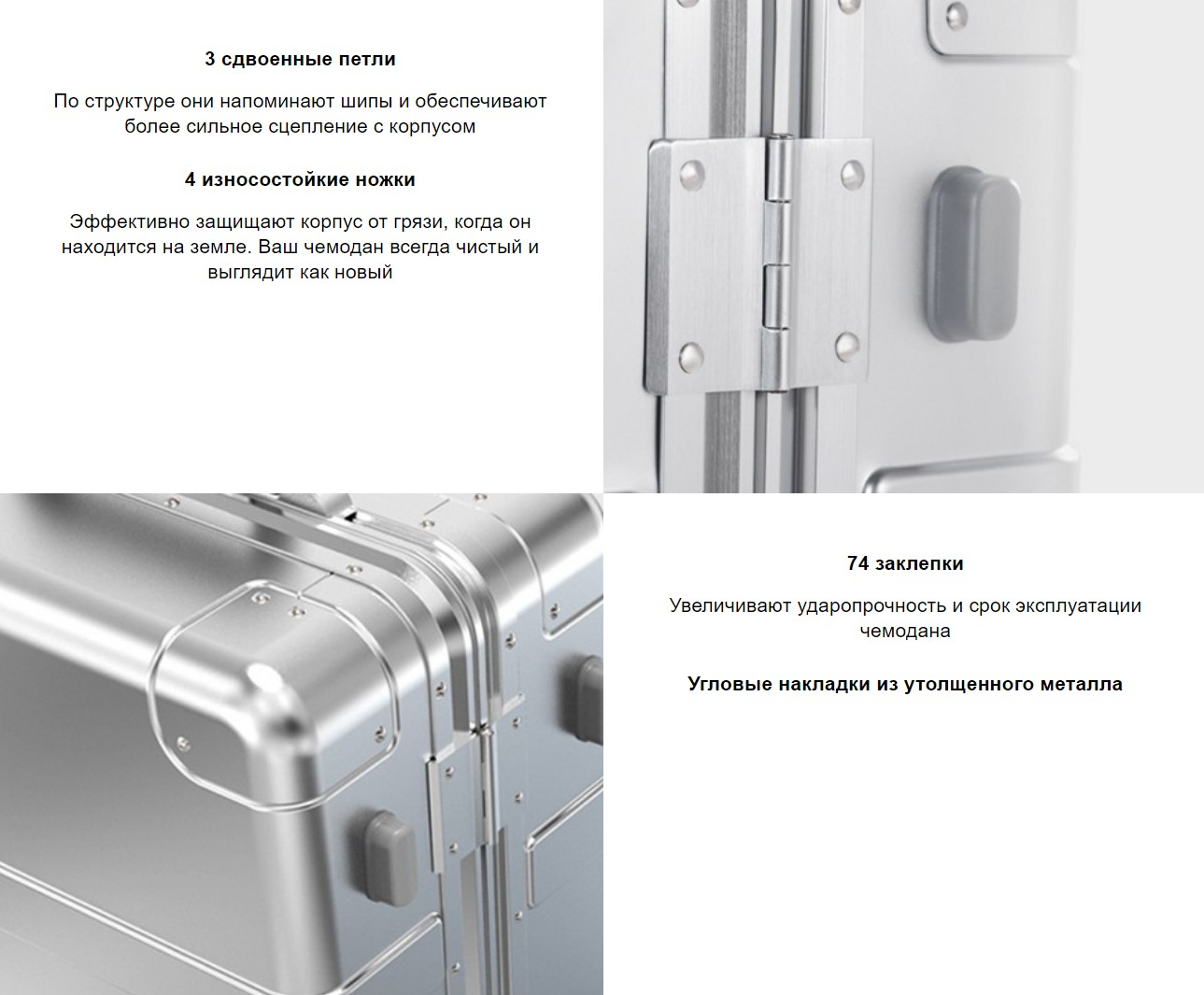 Чемодан Xiaomi RunMi 90 Points Smart Metal Suitcase 20 дюймов