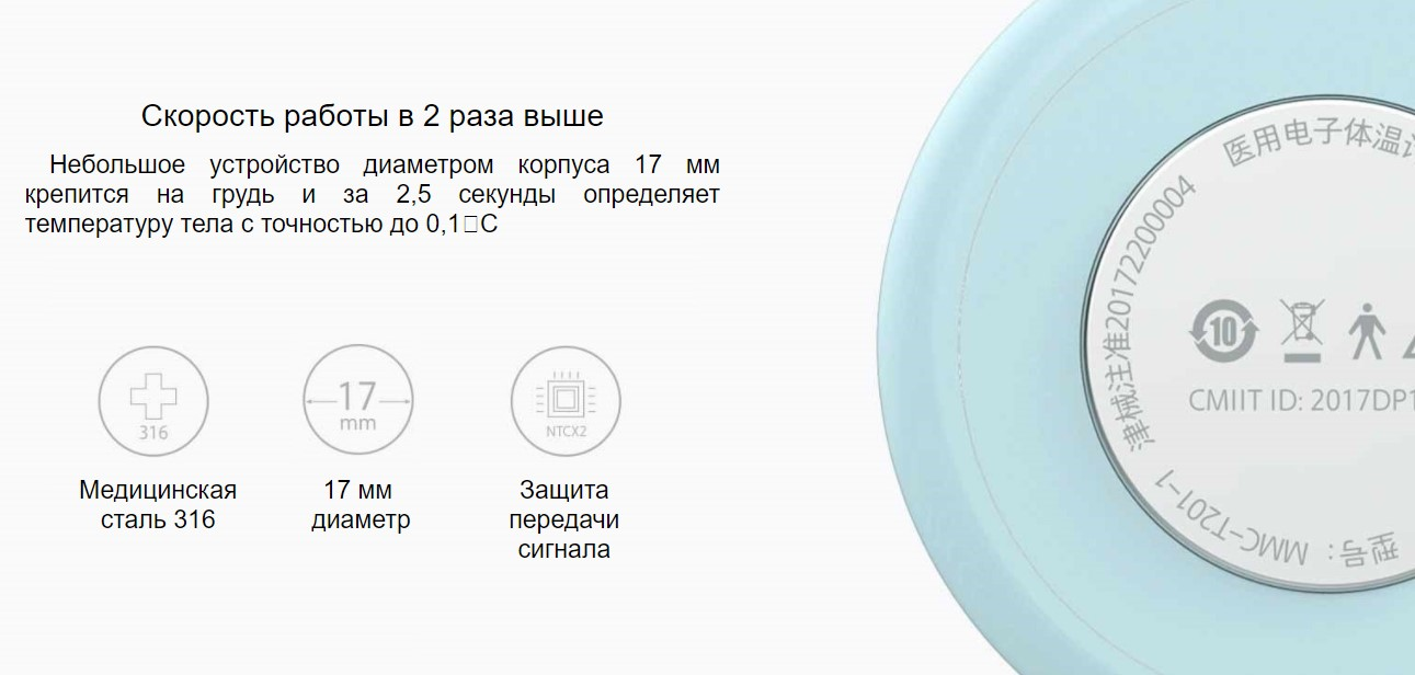 Детский термометр Xiaomi Smart Thermometer Miaomiaoce