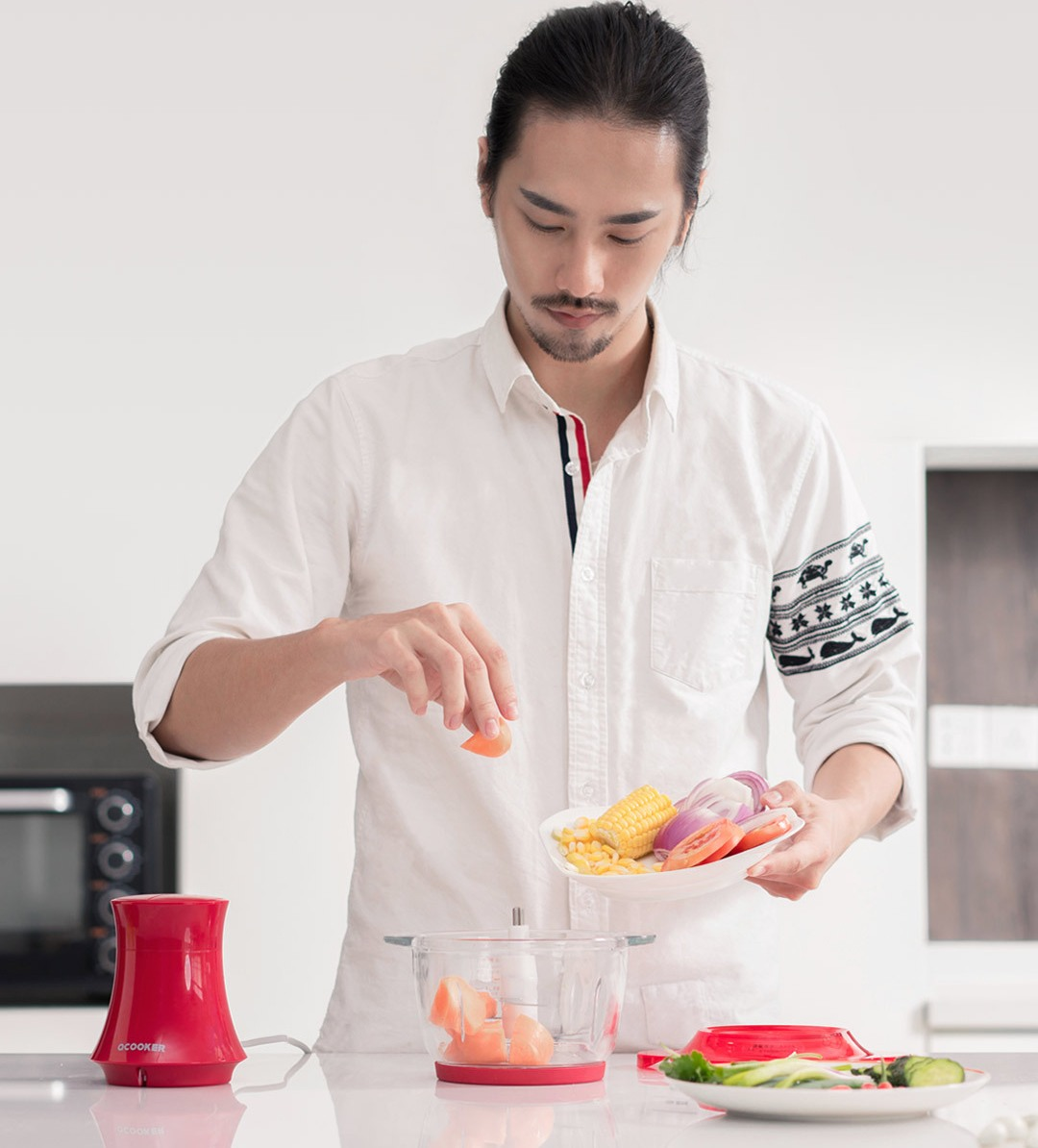 Измельчитель блендер Xiaomi O-COOKER Electric Small Grinder Circle Kitchen (CD-CH01)