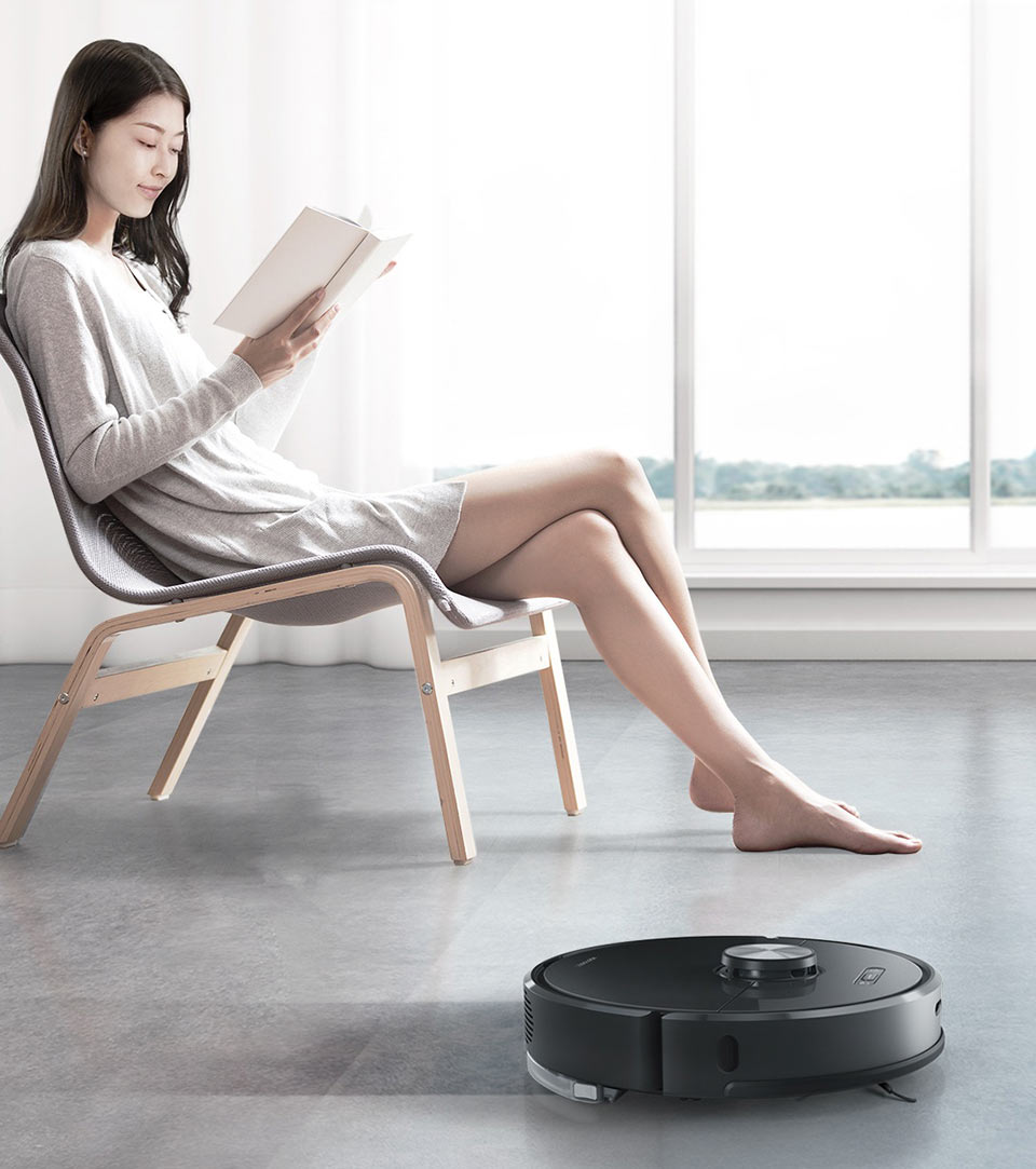 Моющий умный робот-пылесос Xiaomi Roborock Smart Sweeping Vacuum Cleaner S6 (T65)