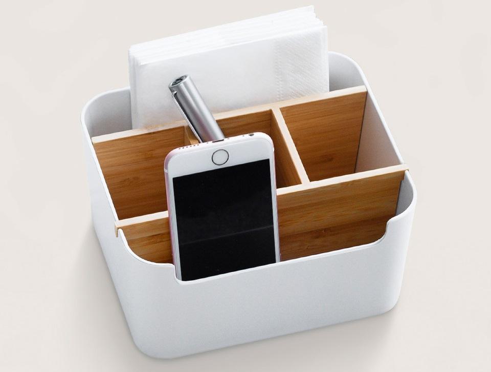 Настольный бамбуковый органайзер Xiaomi ZEN's Bamboo Multi-Function Desktop Storage Box