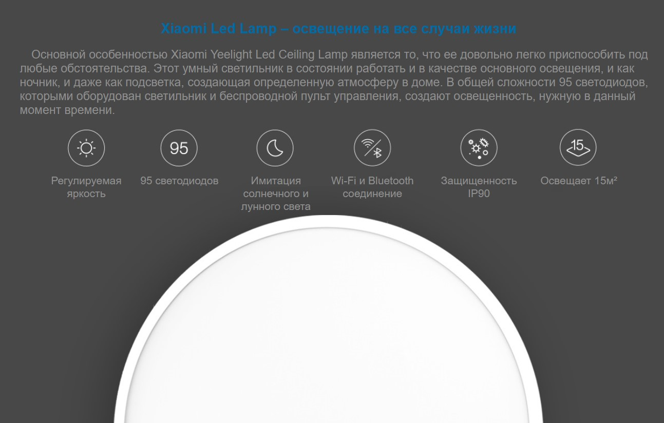 Потолочная лампа Xiaomi Yeelight Smart LED Ceiling Lamp