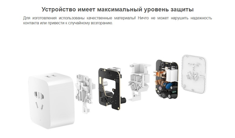 Умная розетка Xiaomi MiJia Smart Plug Socket Pro 2.0 Enhanced 2 USB WiFi (ZNCZ03CM)
