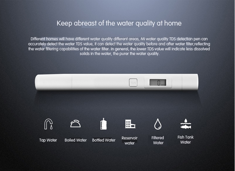Тестер качества воды Xiaomi Mi TDS Pen Water Quality Tester