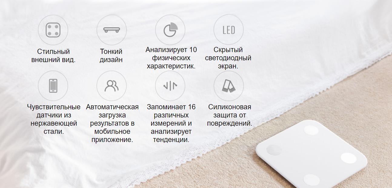 Умные напольные весы Xiaomi Mi Smart Scale 2 (Body Fat)