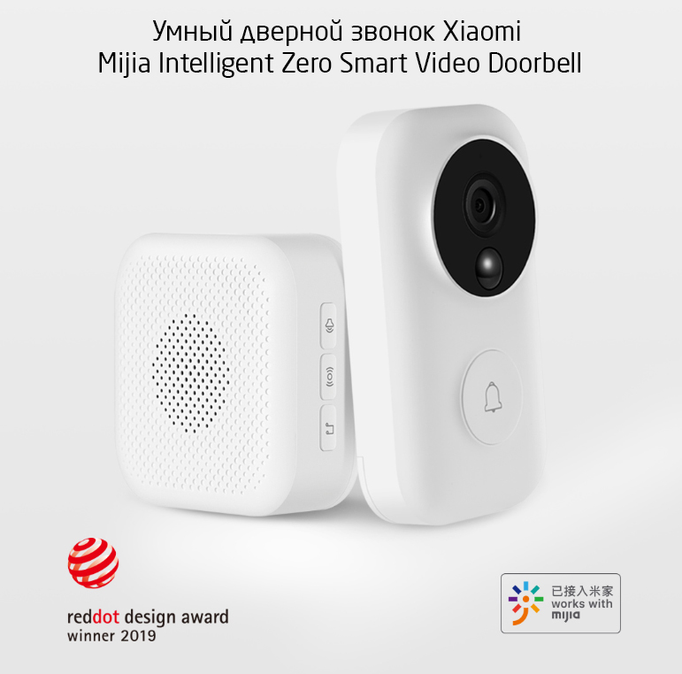 Умный дверной звонок Xiaomi Mijia Intelligent Zero Smart Video Doorbell