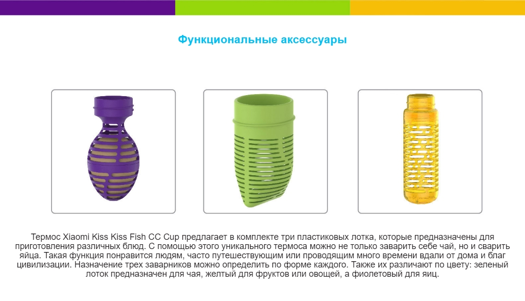 Умный термос KissKissFish CC Temperature Visible Cup 525мл.