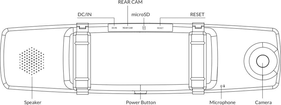 Видеорегистратор зеркало Xiaomi Yi Mirror Dash Camera Car Rearview