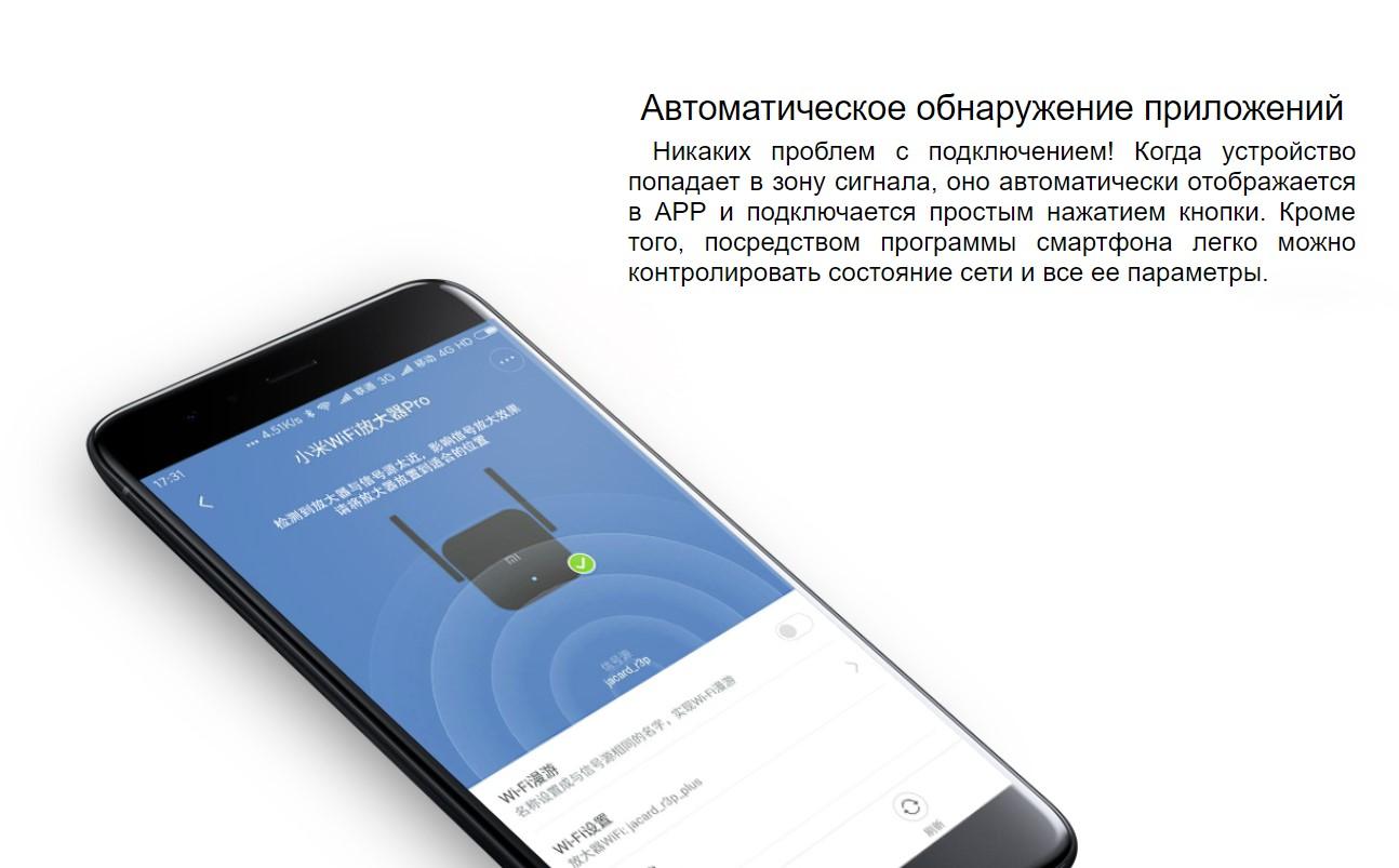 WiFi усилитель сигнала Xiaomi WiFi Amplifier Pro