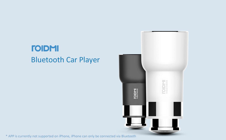 Автомобильное зарядное устройство Xiaomi ROIDMI 3 в 1 Car Charger USB FM Transmitter (BFQ01RM)