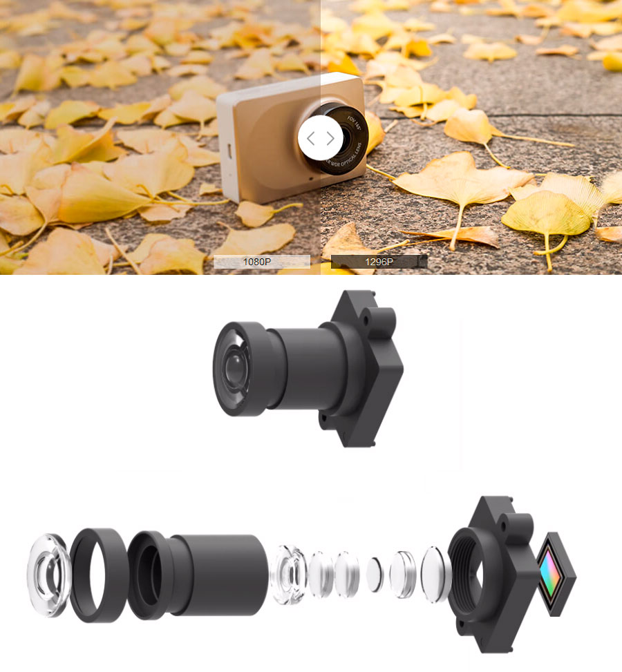 Автомобильный видеорегистратор Xiaomi Yi Smart Dash Camera DVR
